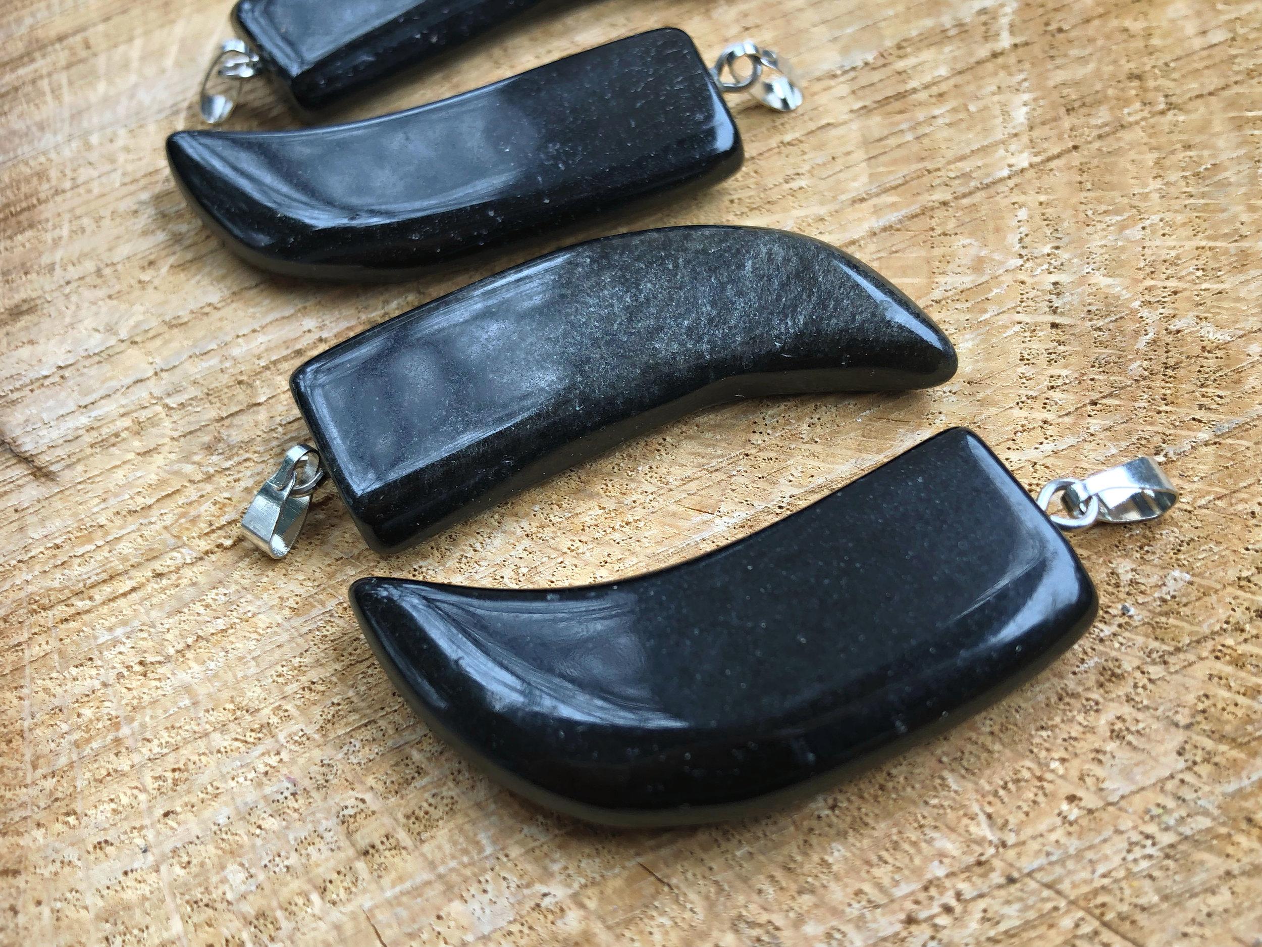 silver sheen obsidian horn pendants 2.jpg