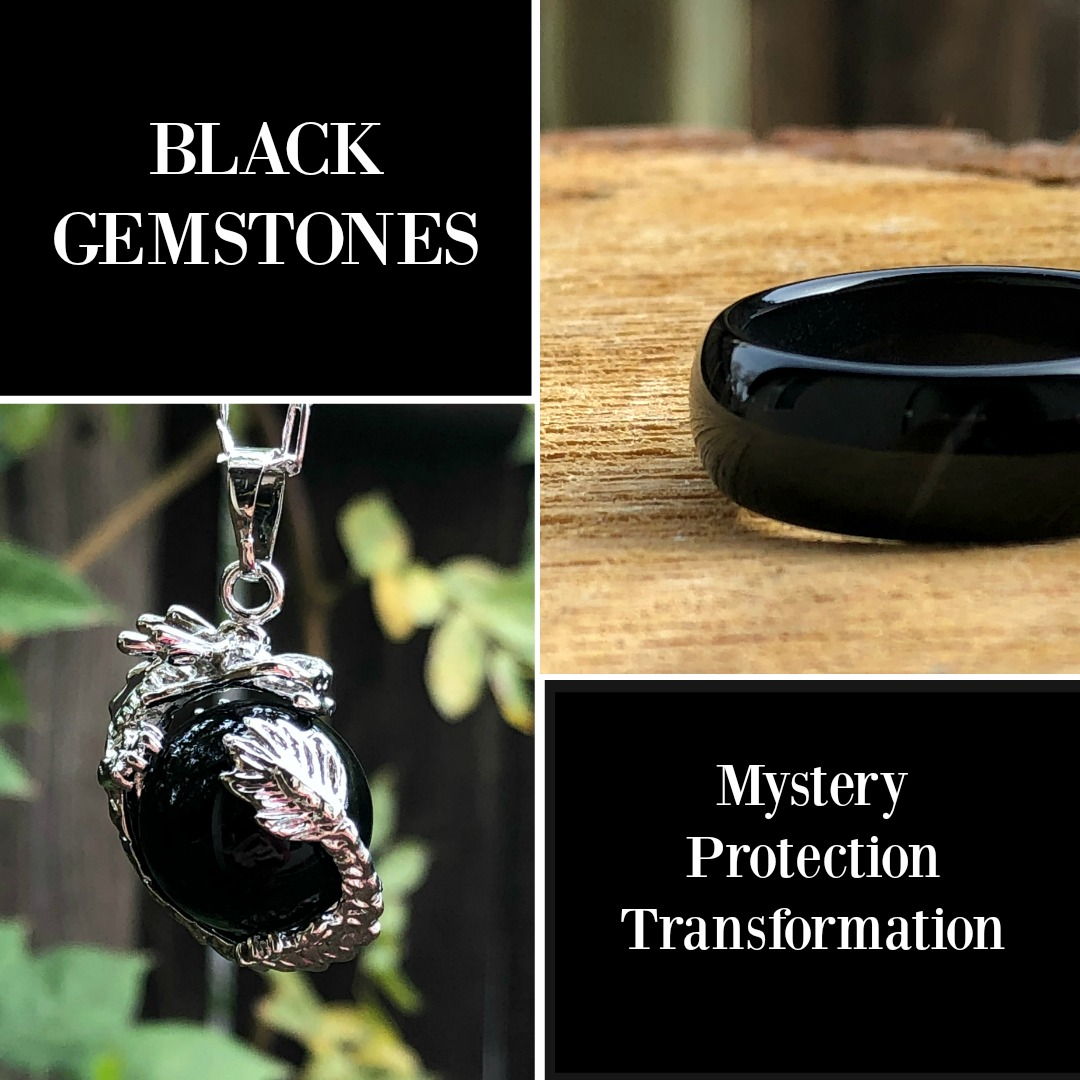 black gemstones
