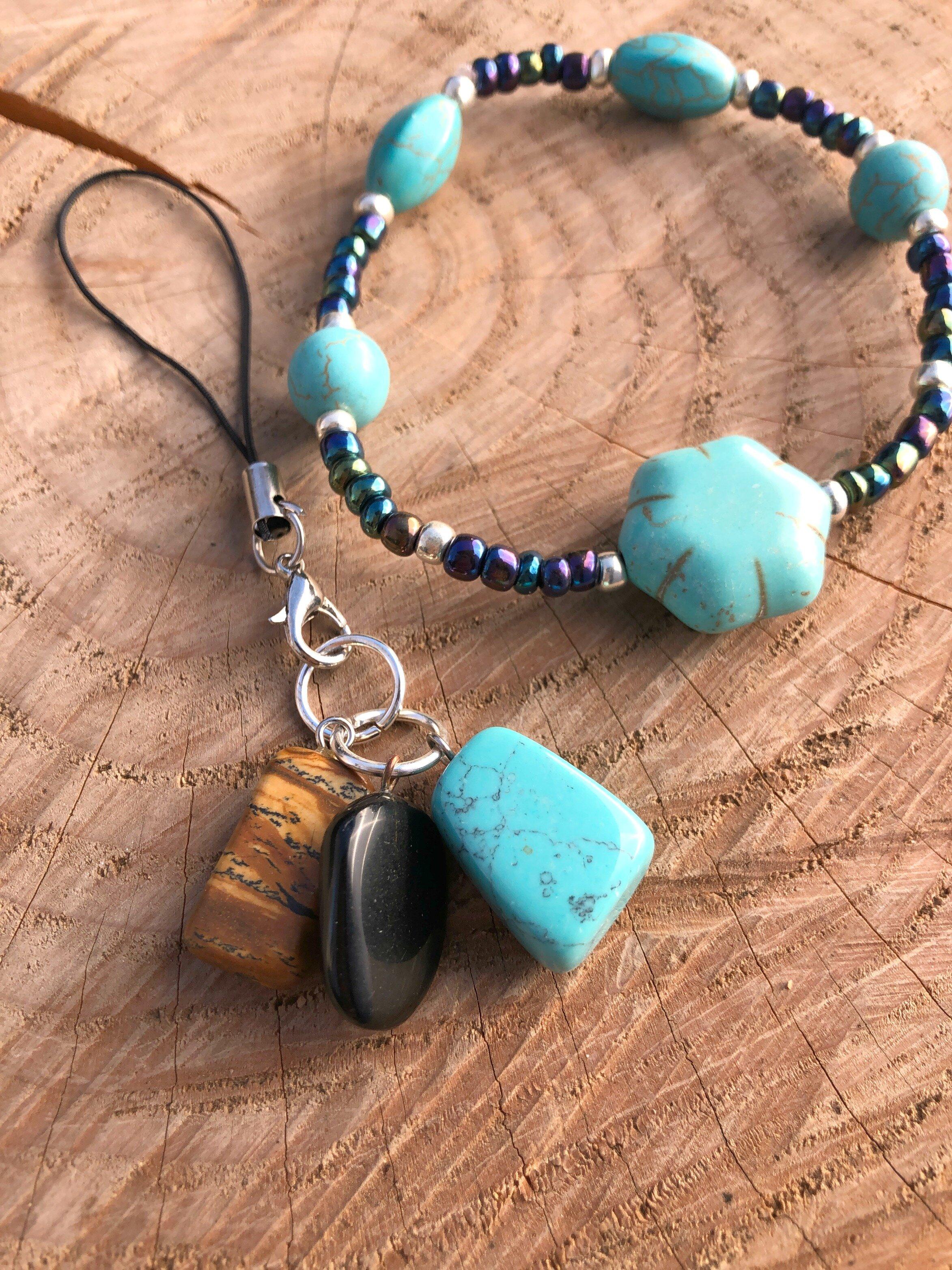 "Natural Healing Gems -Blue Howlite ""Guidance"" Gemstone Bracelet ..."