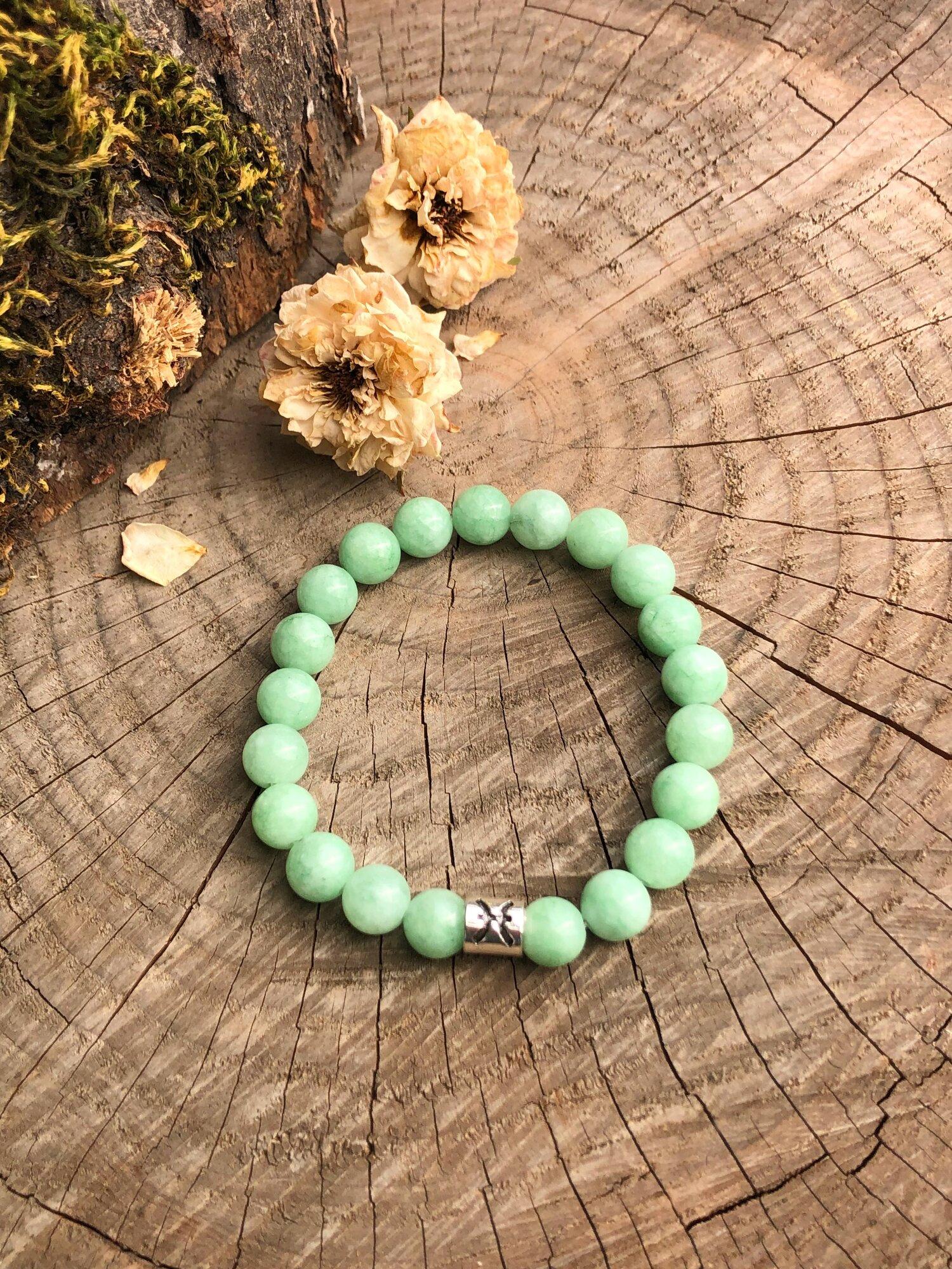 Quartzite bracelet Quartzite green gemstones Quartzite bracelet and earrings green bracelet, Mint green bracelet Quartzite earrings