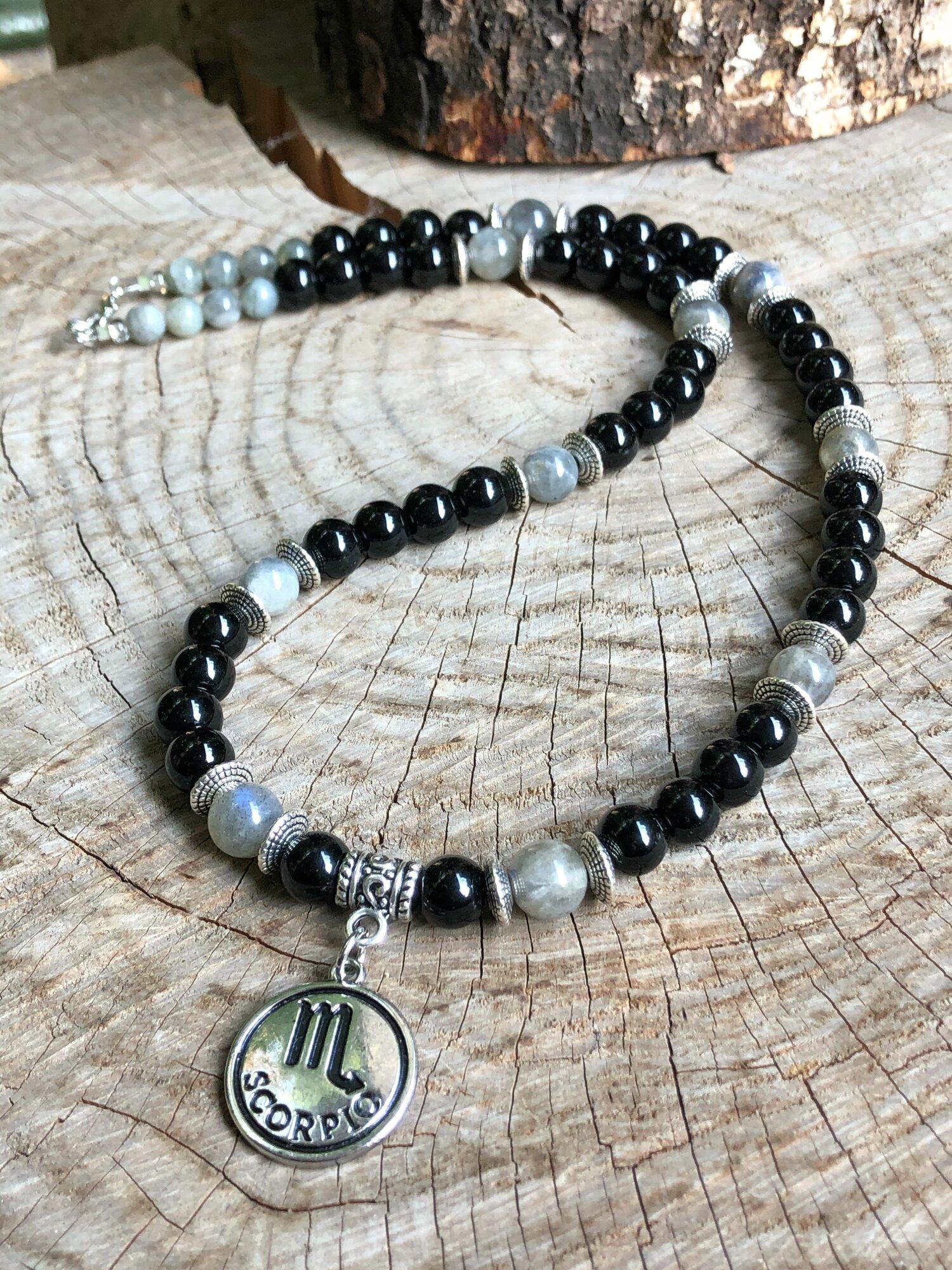 Labradorite and Black Jasper waist beads