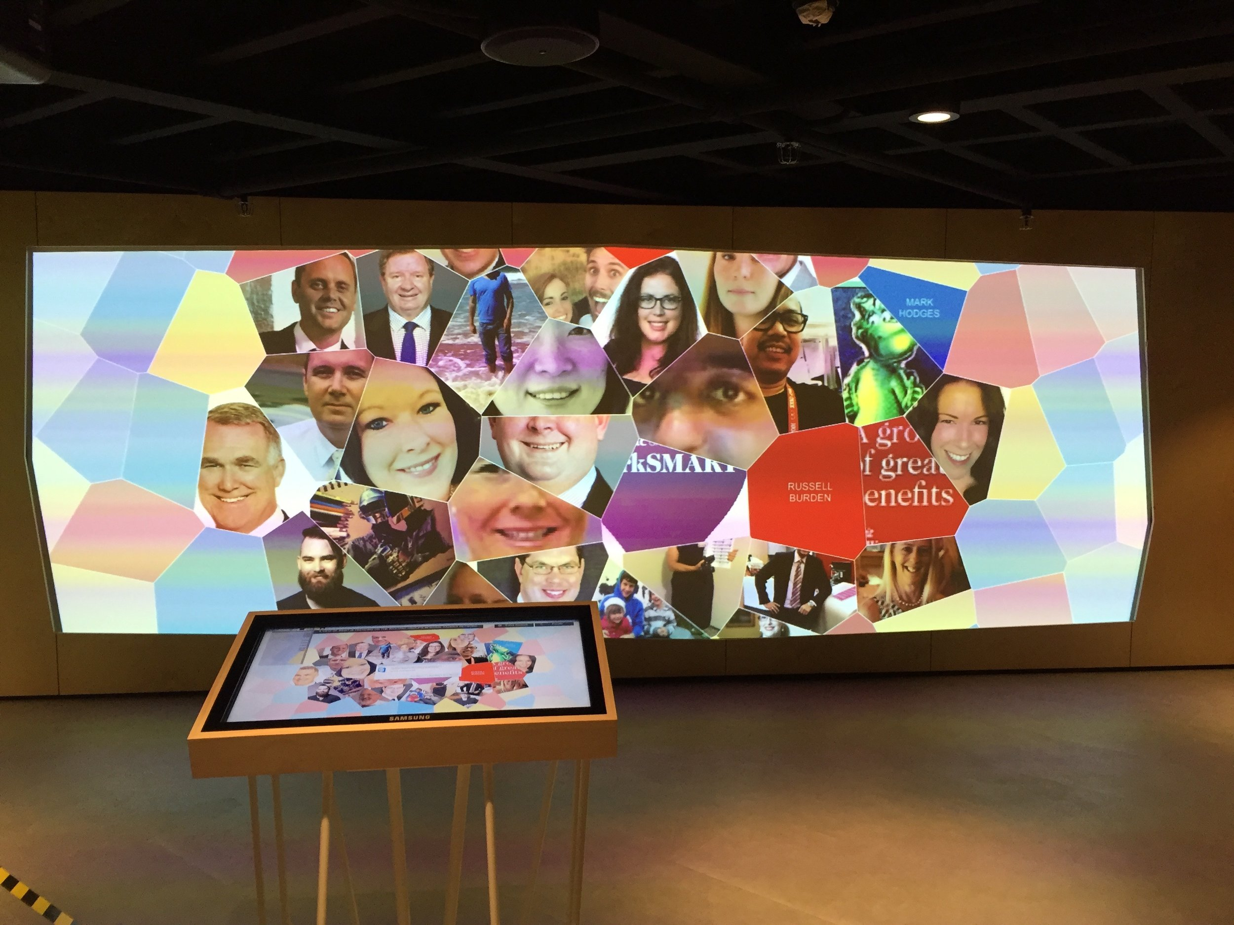 Westpac Experience Centre - Create a space to hack into possibility.High-end design and fabrication - Cutting edge audio and visual technology - Writeable surfaces and adaptable display solutions - Data visualization - Virtual reality experiences - Interactive content