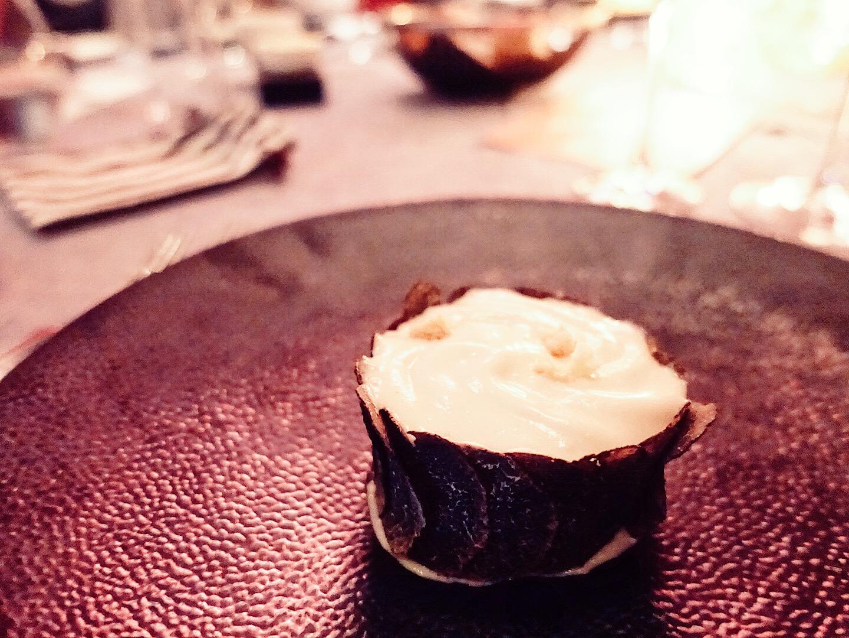 Celeriac Espuma  🍷Domaine Bovy, St Saphorin 2014  Lavaux, Switzerland