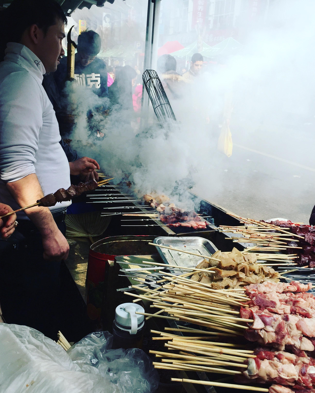 Lamb Skewers @ Shanghai Muslim Market