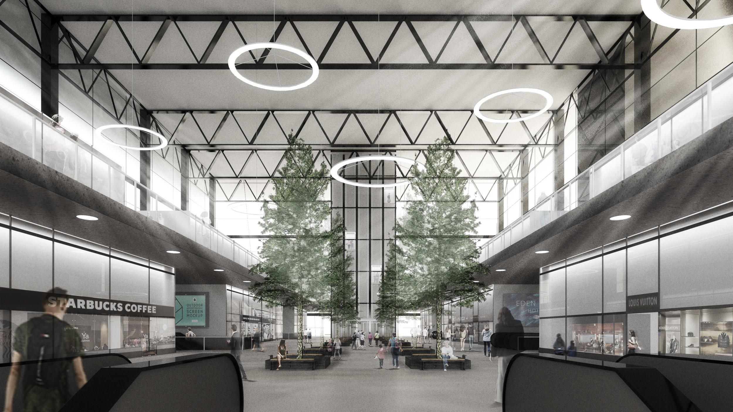Terminal interior view