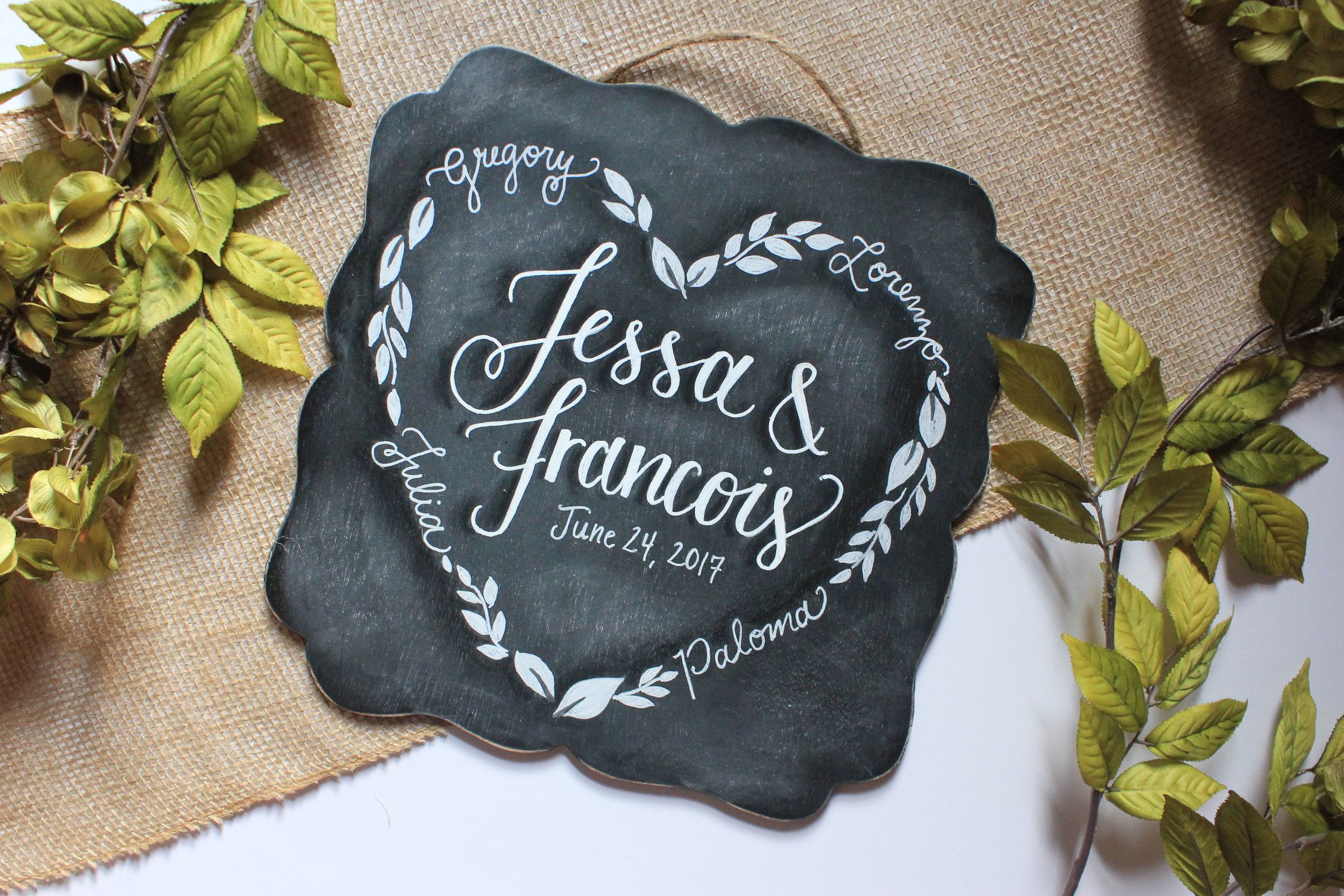 His & her signs •  the perfect customized gift for engagements, showers & weddings