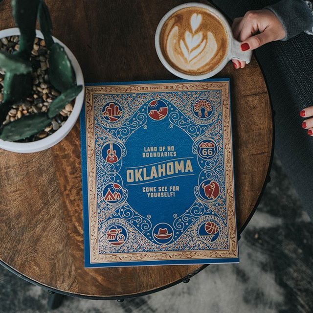 Go check out the new @travelok guide to Oklahoma today and try a Onyx Delight Latte! - - - #travel#oklahoma#coffee#espresso#explore#wanderlust#traveloklahoma #thislandisyourland #latte#cactus#photography#bookstagram #book#liveauthentic