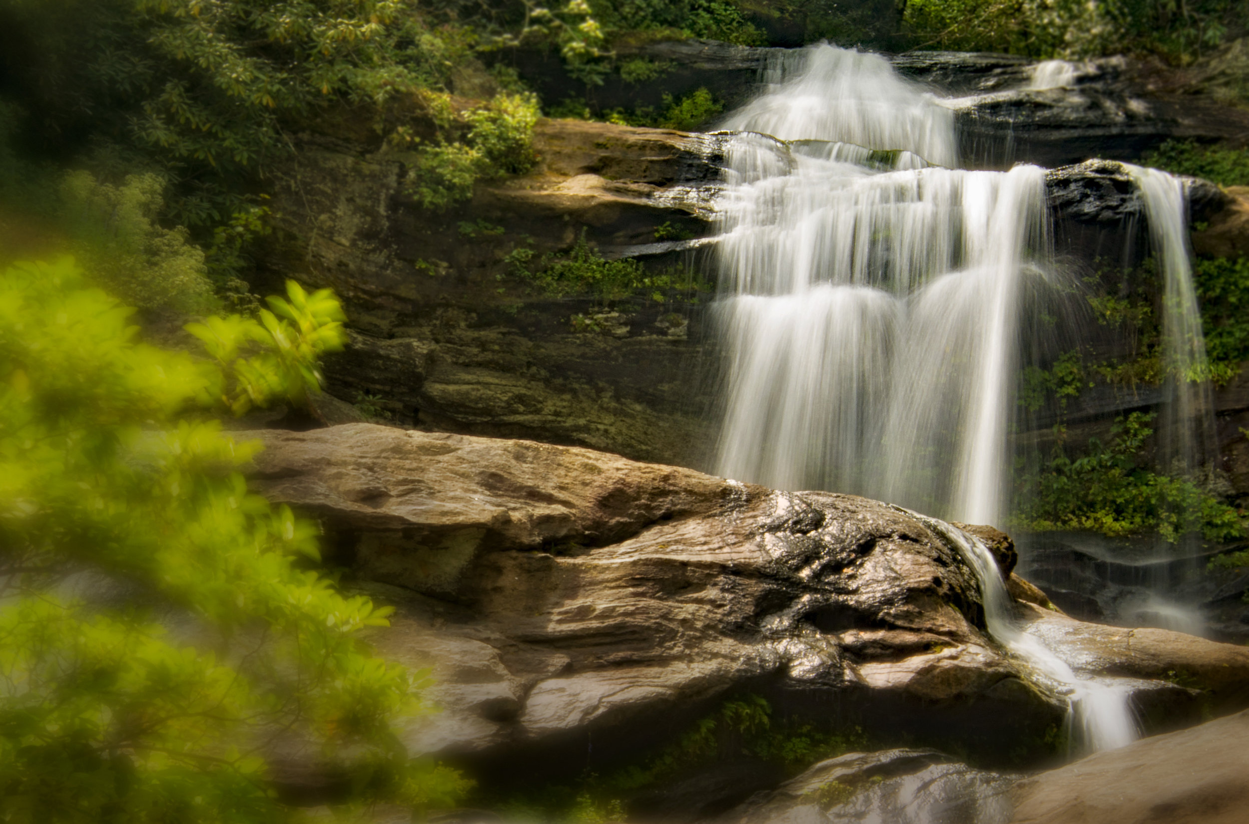Holcomb Creek Falls Rabun County, GA August, 2017 Nikon D7100 Tamron 24-400 mm lens at 70mm ISO 100, f/29, 1/2 sec.