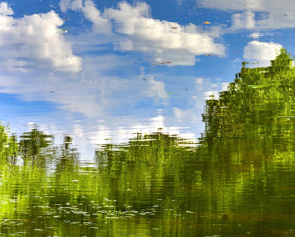 Abstract Lake Reflection
