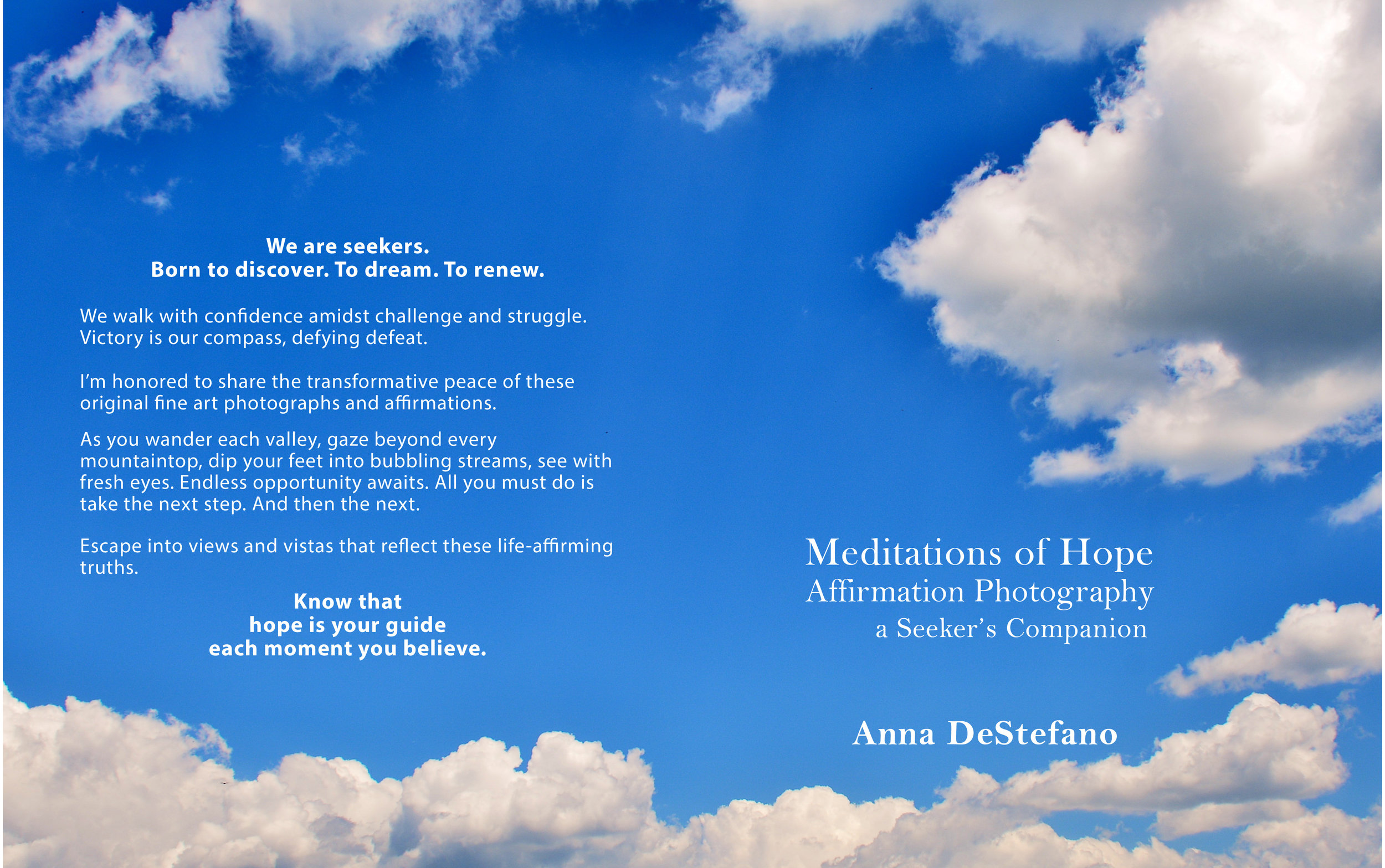 Meditations of Hope   (cover spread)
