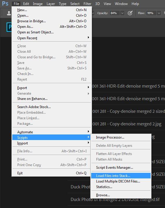 Photoshop CC's  Load Files into Stack  script.