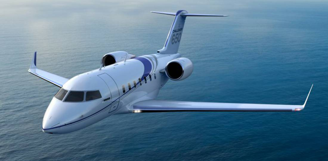 """Bombardier Business Aircraft recently delivered the milestone 200th Challenger 350 and 50th Challenger 650. The Canadian aircraft manufacturer claims that the Challenger 600 series—which includes the Model 600, 601-3A/3R, 604, 605 and, picture here, 650—the """"best-selling business jet of all time"""" in the large-cabin category, with nearly 1,100 deliveries recorded to date. (Photo: Bombardier)"""
