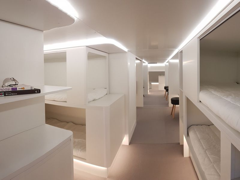 Airbus and Zodiac Aerospace have teamed up on lower-deck modules like this one, with sleeping berths. (Airbus)