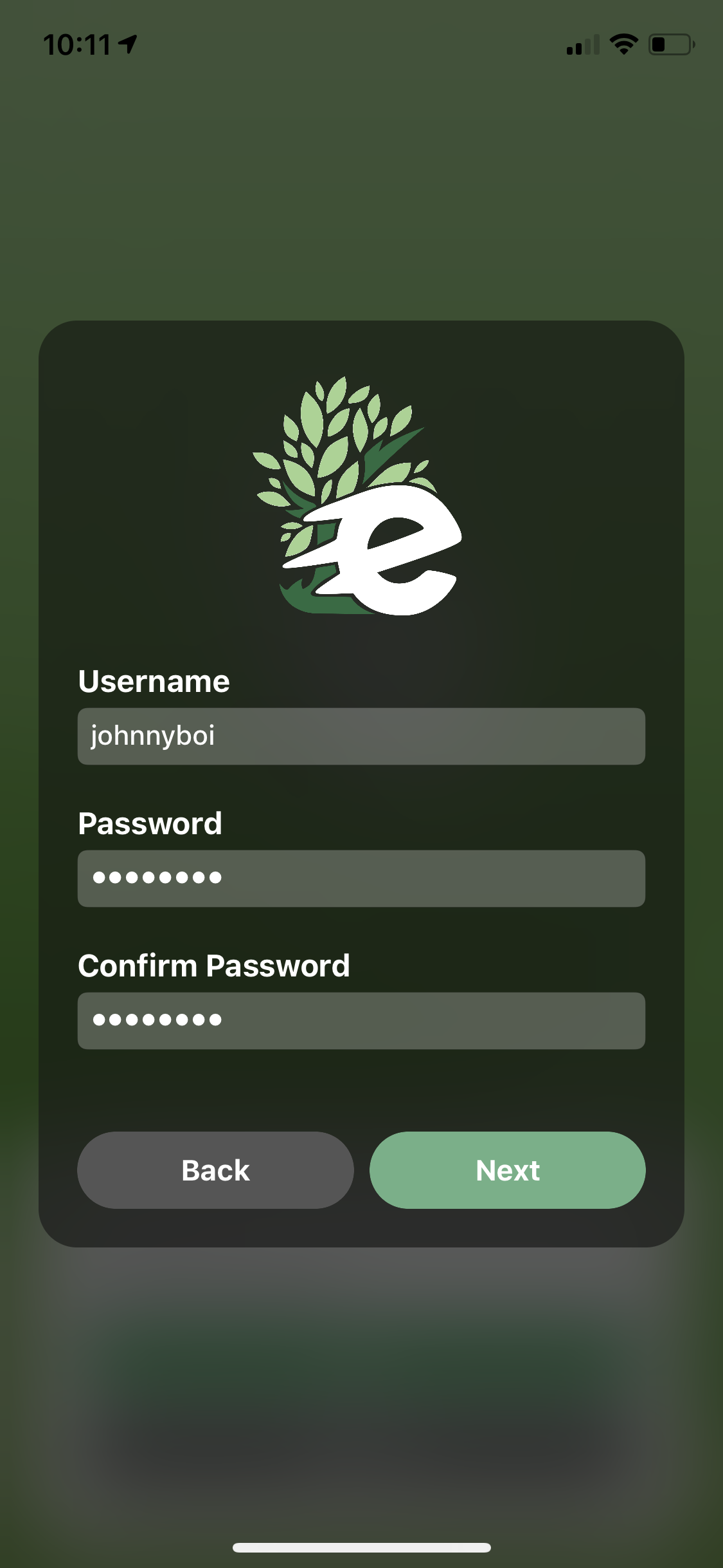create a unique username and password, your friends will see your username when you share or create a challenge!