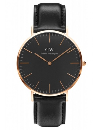 DANIEL WELLINGTON Classic Black Sheffield Watch 40mm