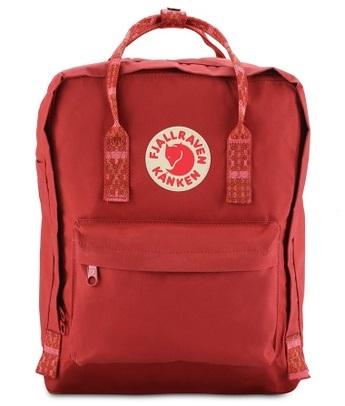 Fjallraven Kanken Deep Red - Folk Pattern Kanken Classic Backpack