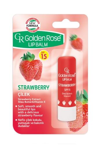 GOLDEN ROSE Lip Balm - Strawberry SPF 15
