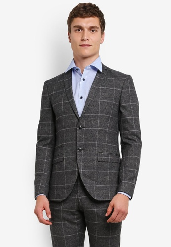 SELECTED HOMME Checkered Suit Blazer