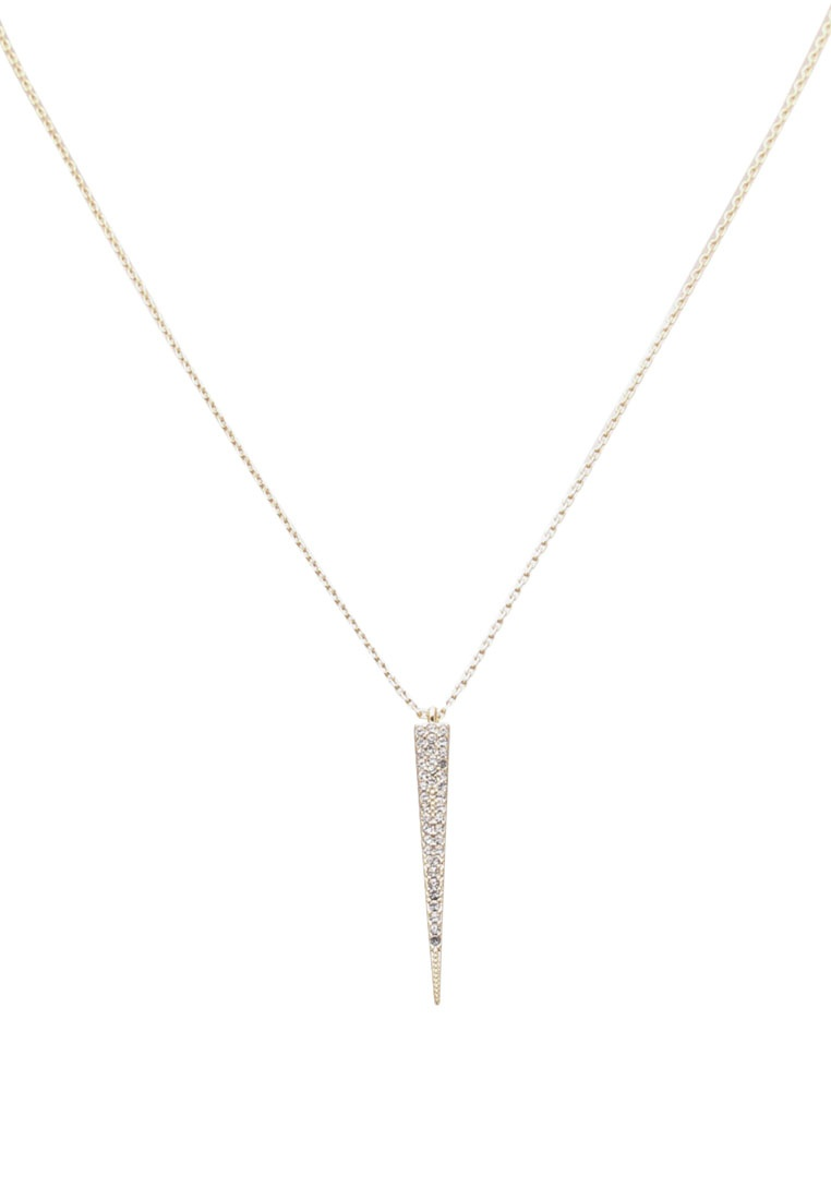 ORELIA LONDON Pave Spear Short Necklace