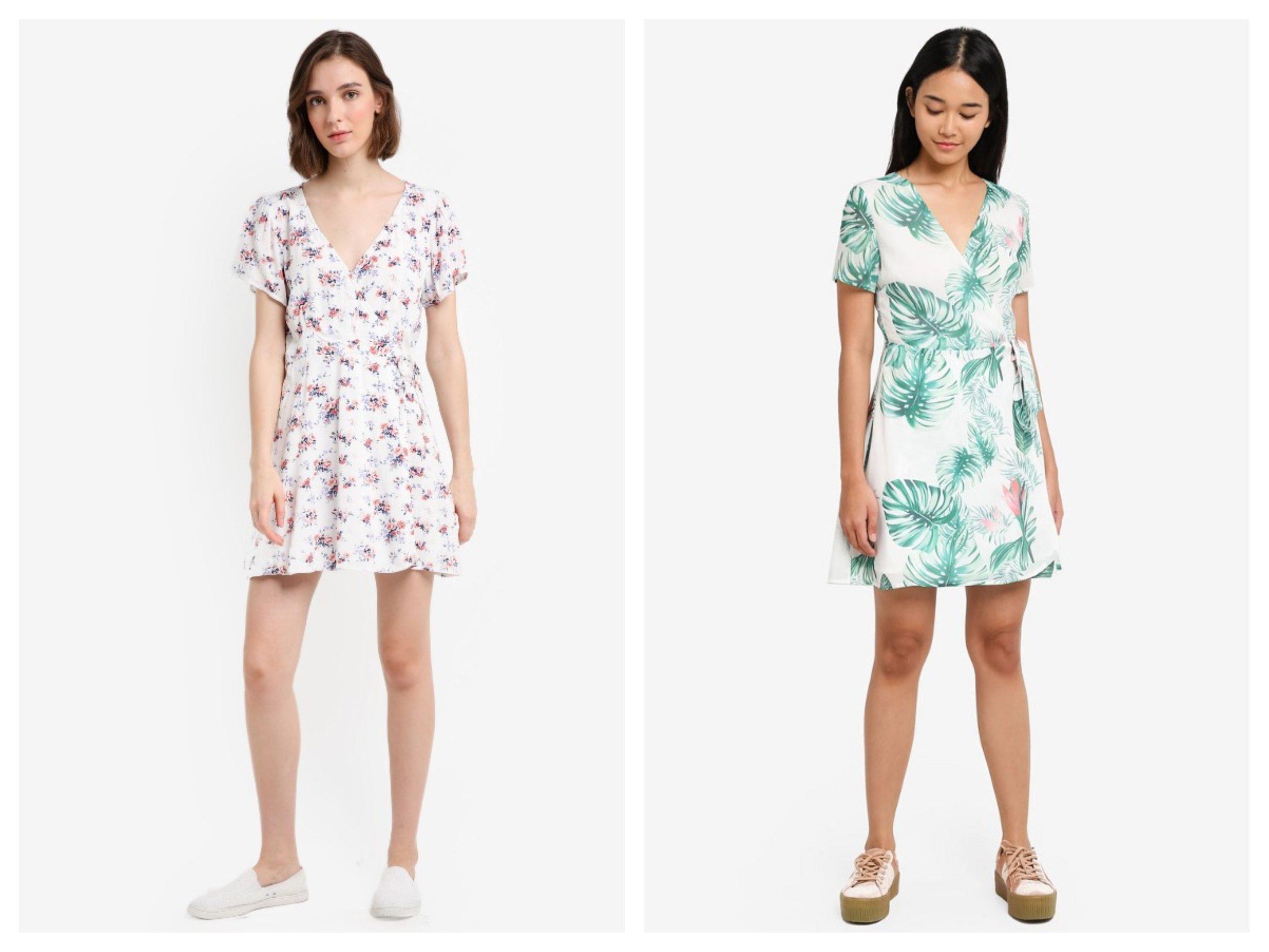 Abercrombie & Fitch Rayon Wrap Dress | Something Borrowed Wrap Mini Dress