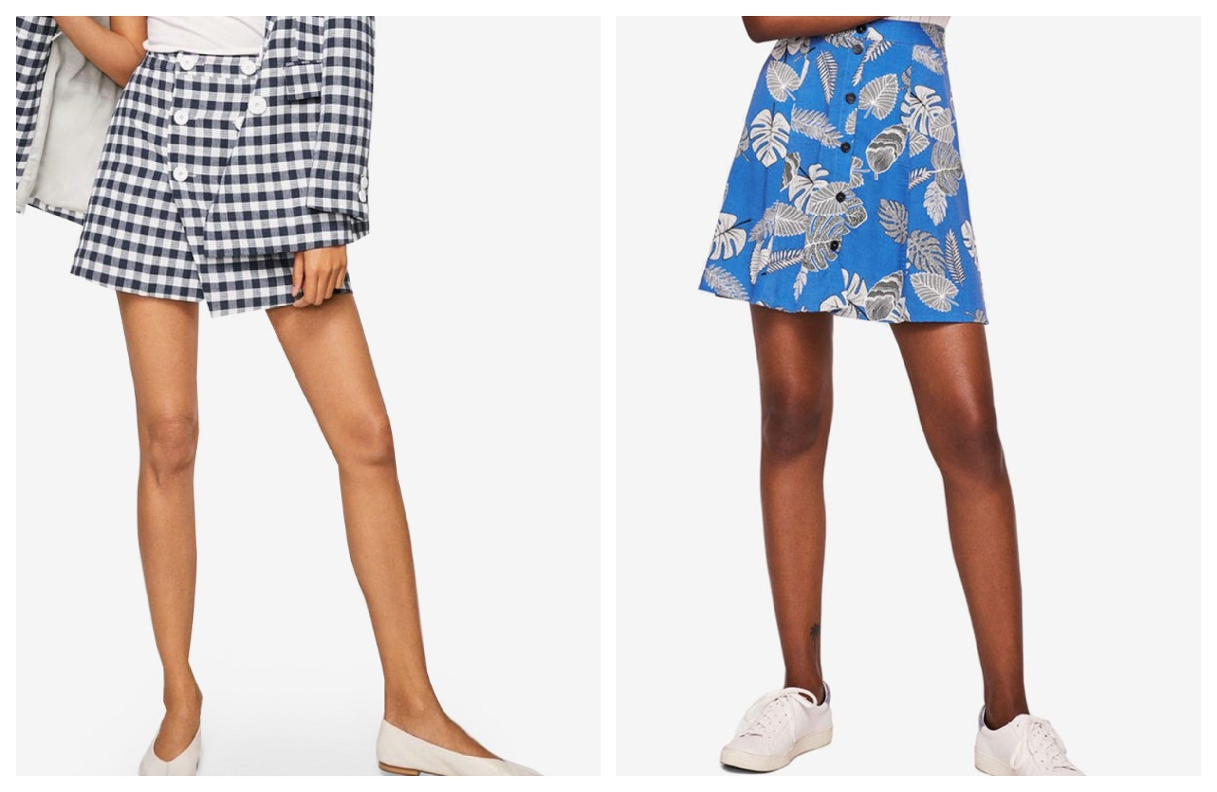 Mango Checked Print Skirt  | Mango Flowy Printed Skirt