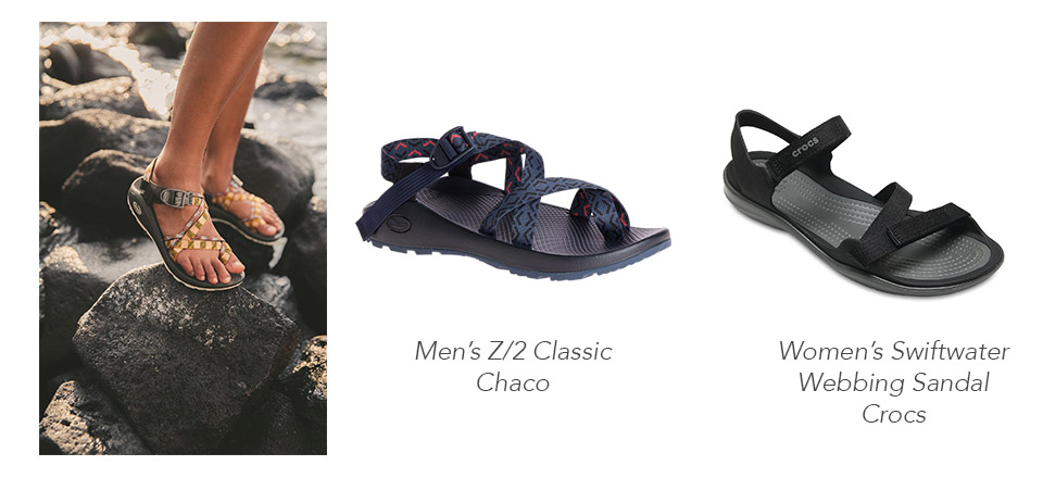 Source: Chaco & Crocs   Hiking sandals are not only worn exclusively for hiking; due to its cushioning, secure straps, and variety of coloring, this type of shoes has become popular for many Malaysians. Donning these shoes will give you a more rugged appearance in contrast to the typical style summer fashion.  Make sure to also apply sunscreen on your foot when you're wearing this type of sandals to avoid undesirable tan lines. Some hiking sandals also need to be broken in, especially if you're planning to take long walks in them.  Chaco,The North Face, and even Crocs, all carry affordable yet stylish hiking sandals that you can wear to conquer Broga Hill or for a beach stroll in Port Dickson.      This article    first published on    iPrice   , a meta-search website where online shoppers can easily compare prices and discover products from hundreds of top brands.