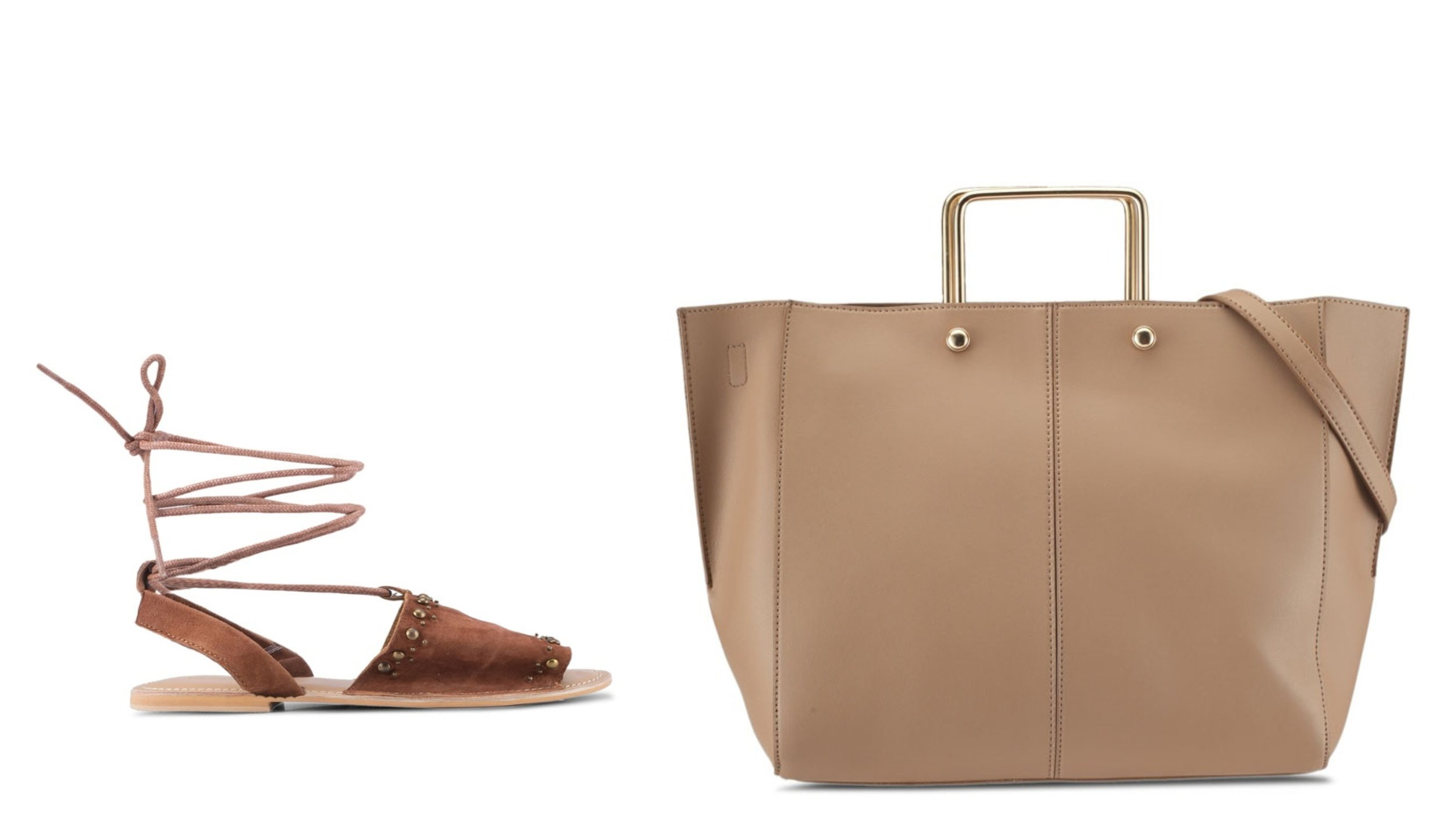 TOPSHOP Hope Studded Sandals      ZALORA Tote Bag With Metal Handle