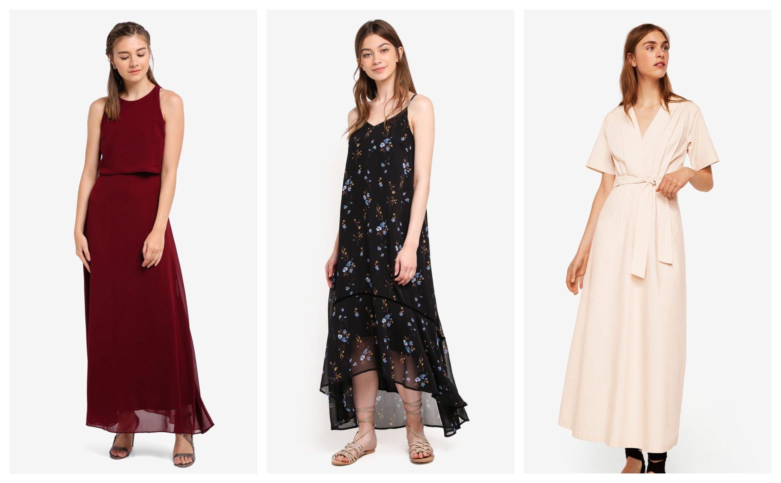 ZALORA Bridesmaid Double Layer Maxi Dress      Something Borrowed Cami Maxi Dress With Trim Detail      MANGO Belt Long Dress
