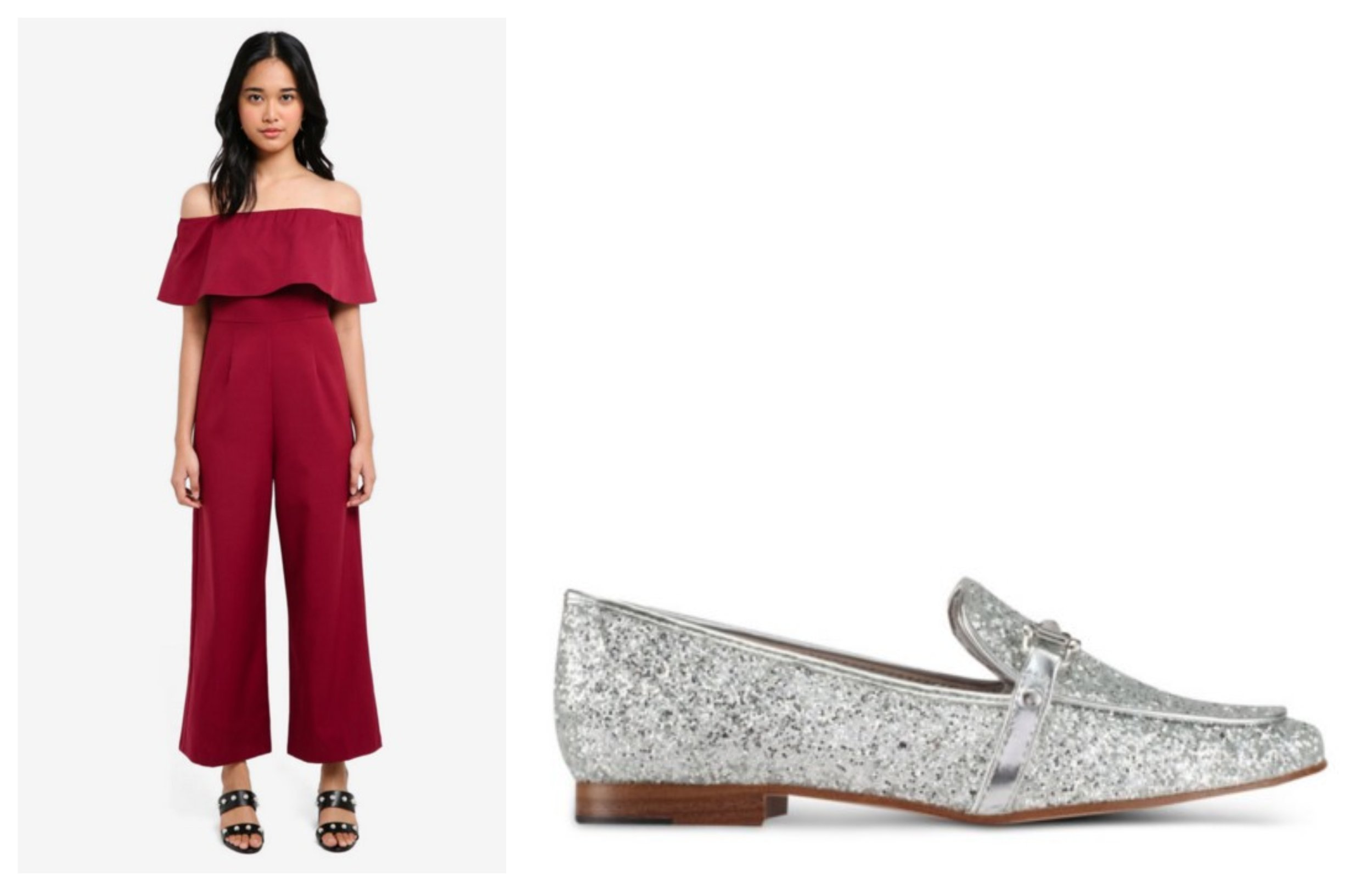 Something Borrowed Off Shoulder Jumpsuit |  ALDO Astawia Loafers