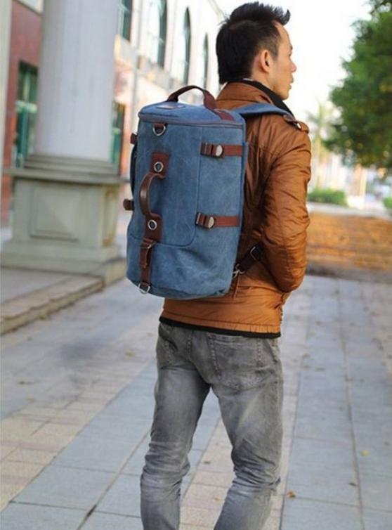 Jackbox XBD Cylinder Canvas Bag Shoulder Messenger Sling Handbag Backpack