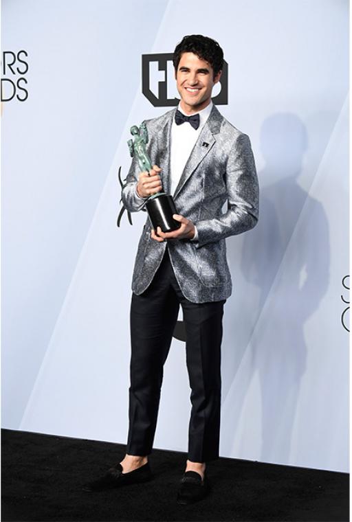 Darren Criss in Emporio Armani