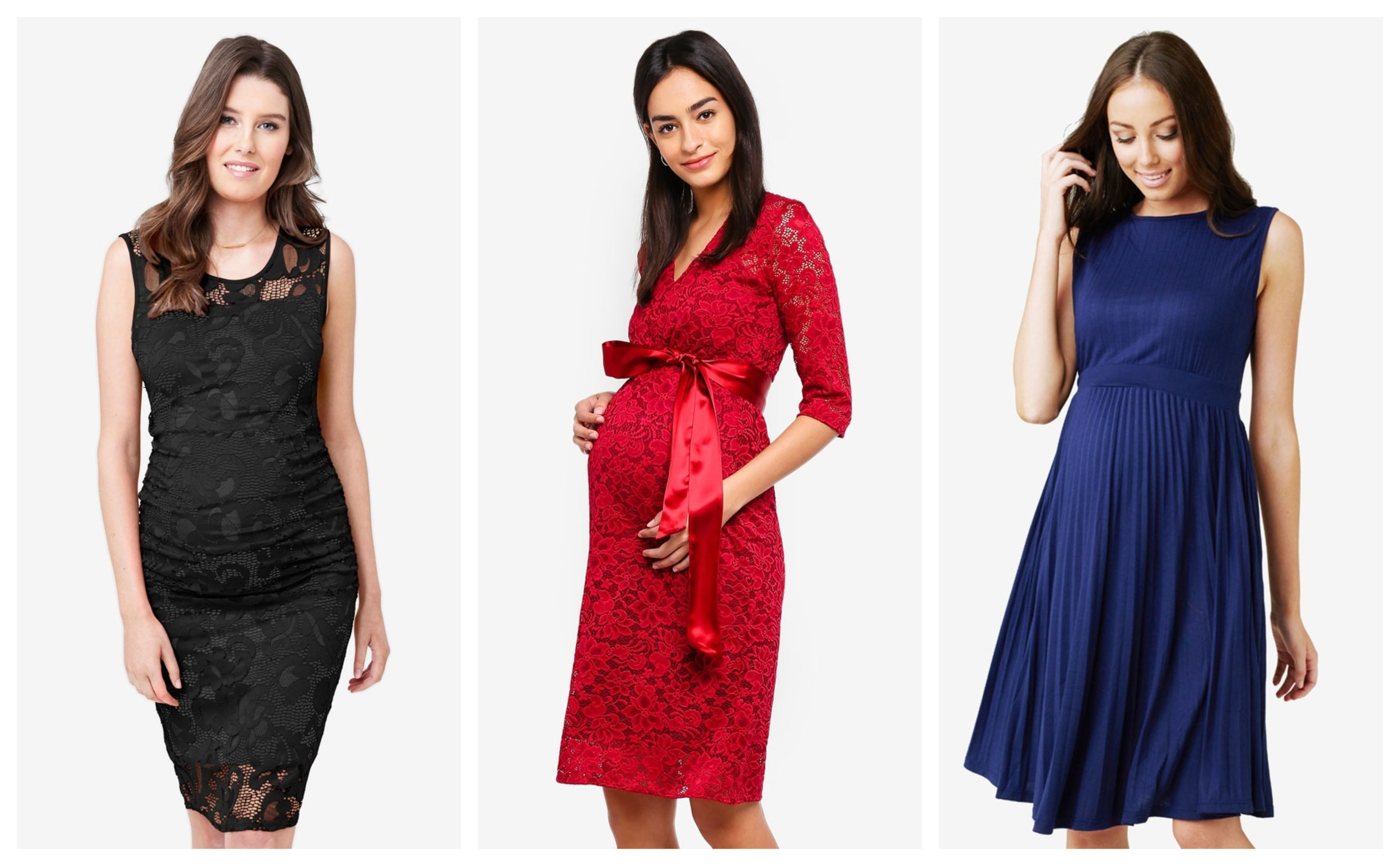 Ripe Maternity Maternity Eden Lace Dress    ,    Tiffany Rose Maternity Suzie Dress    ,    Ripe Maternity Maternity Knife Pleat Dress