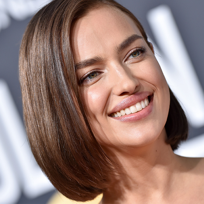 Looking to opt for the chop? Rock a sleek bob like Shayk here at the recent Golden Globes Awards.