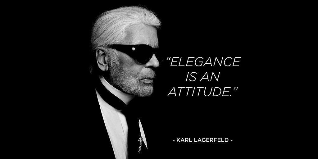 Photo taken from:  Karl Lagerfeld Twitter