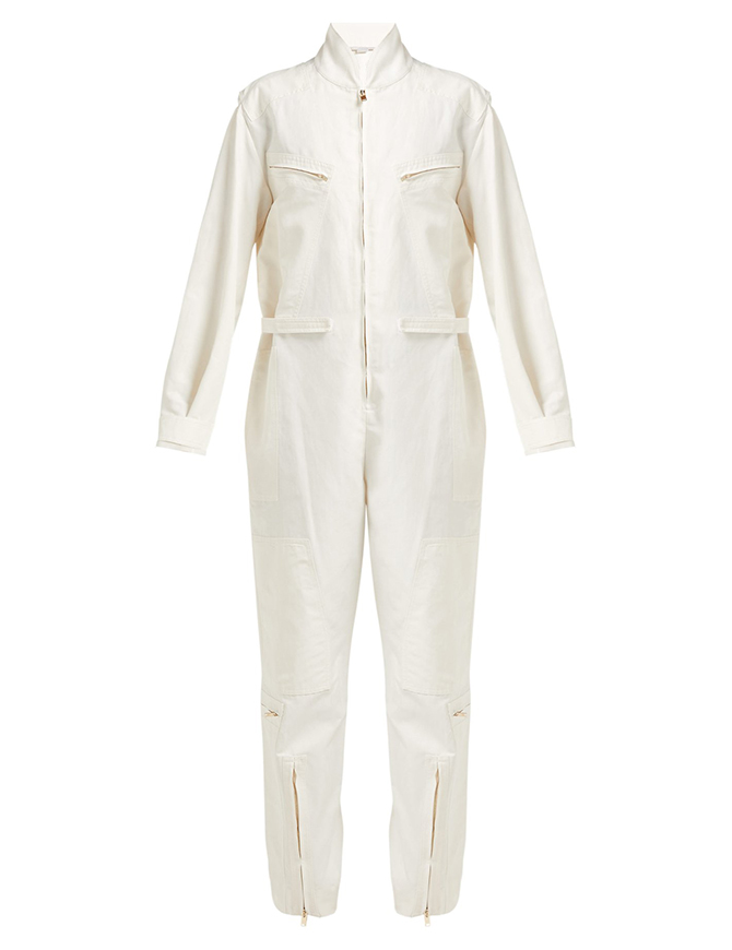 Technical high-neck twill boiler suit, Stella McCartney
