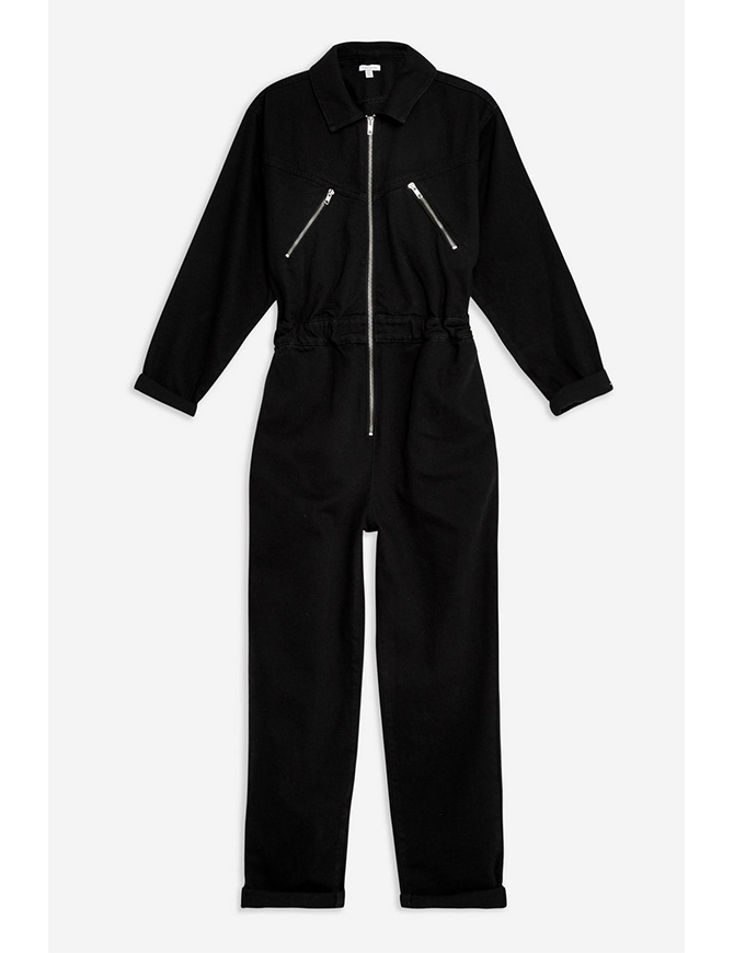 Utility zip boiler suit, Topshop