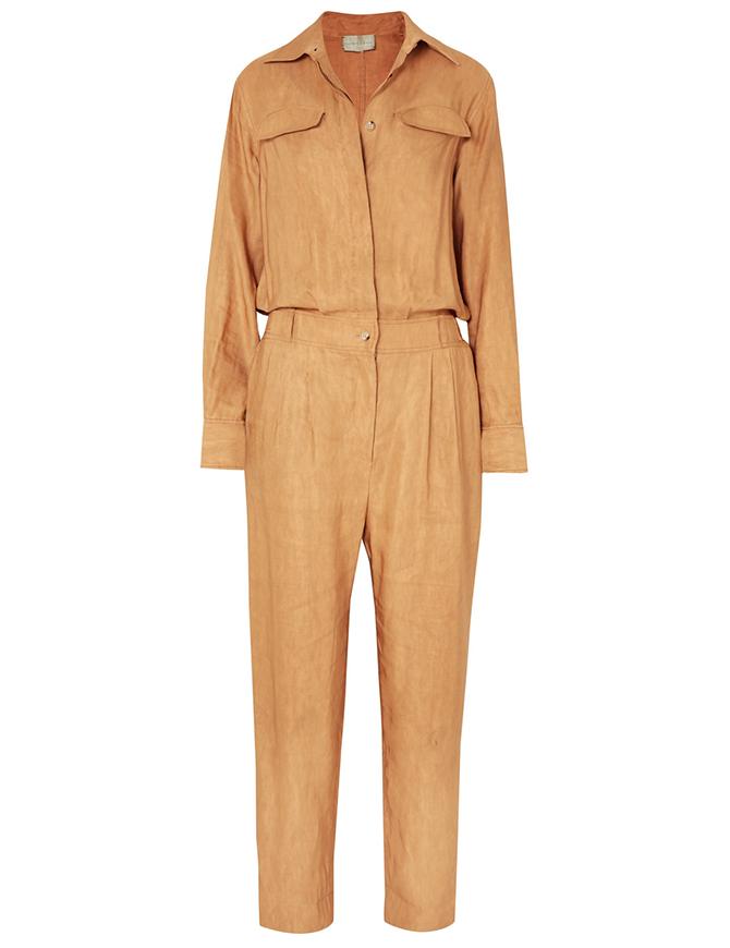 Linen-blend jumpsuit, Arjé