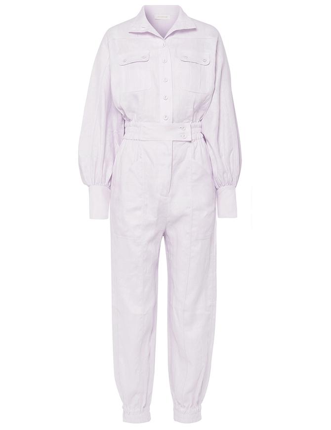 Ninety-Six Racer linen jumpsuit, Zimmerman