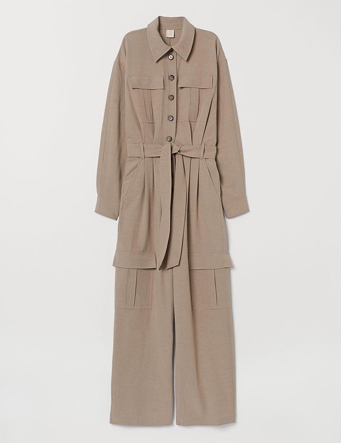 Linen-blend jumpsuit, H&M