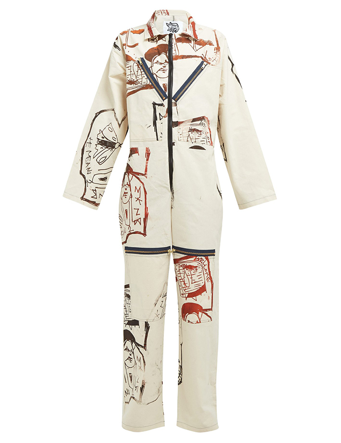 Sketch-printed canvas boiler suit, Matty Bovan