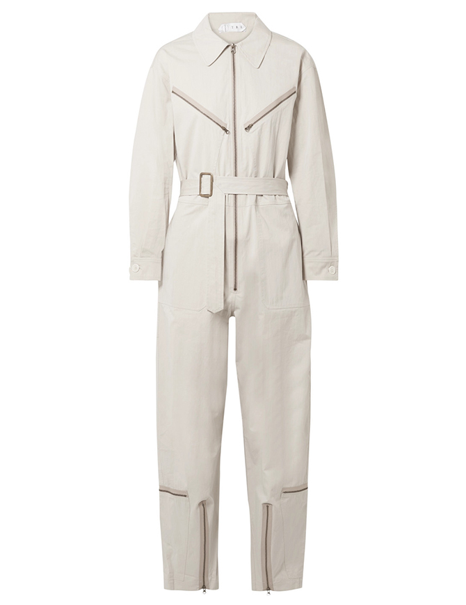 Pigalle cotton-blend twill jumpsuit, Tre by Natalie Ratabesi