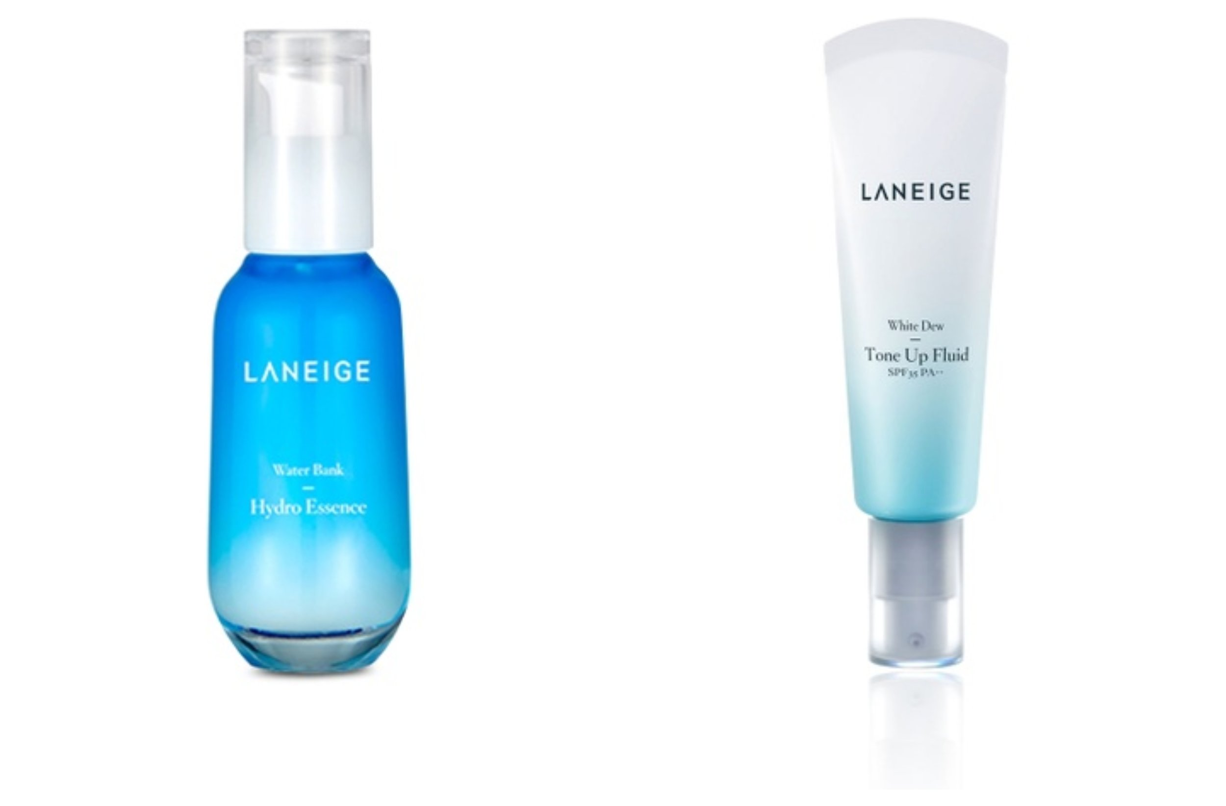 Laneige Water Bank Hydro Essence, Laneige White Dew Tone Up Fluid