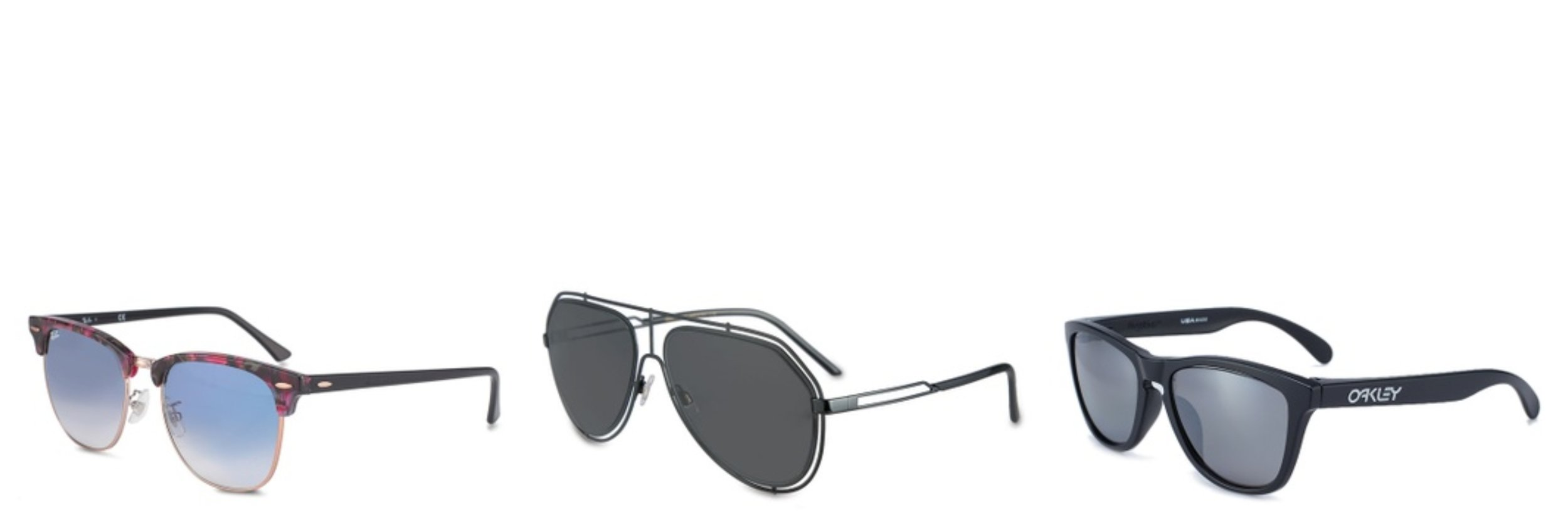 Ray-Ban Icons RB3016F Sunglasses; Oakley Performance Lifestyle OO9245 Sunglasses; Dolce & Gabbana Dolce & Gabbana DG2176 Sunglasses