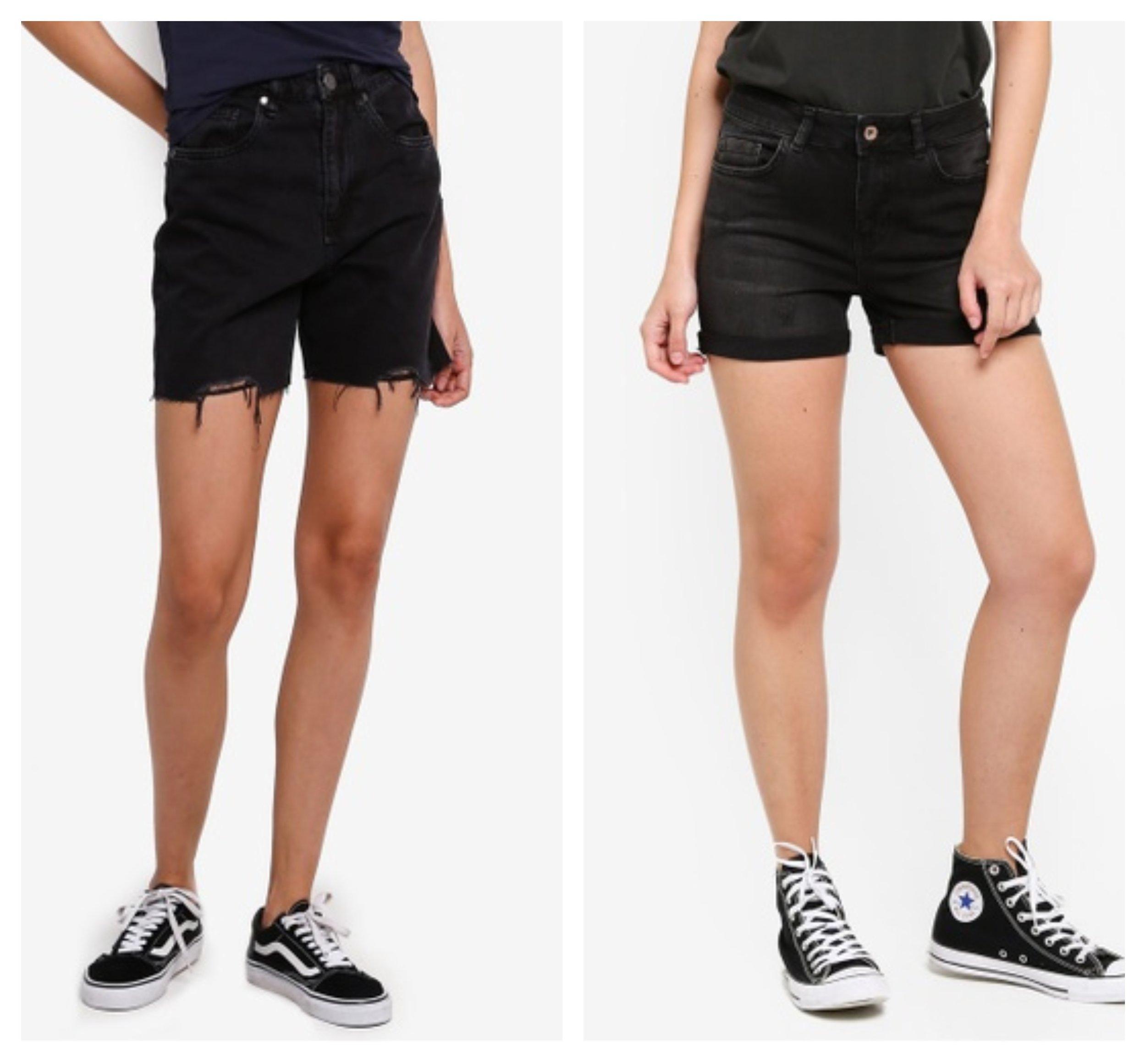 Cotton On High Rise Denim Cut Off Shorts  &  LC Waikiki Slim-Fit Denim Shorts