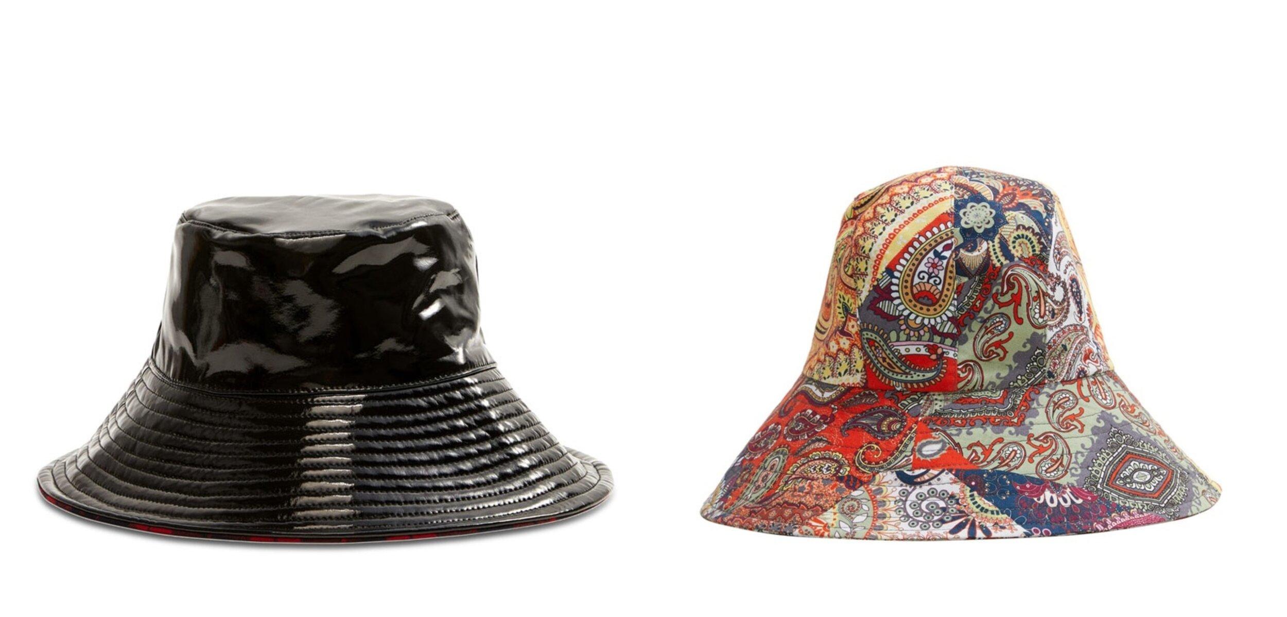 Mango Reversible Bucket Hat   ,    Mango Bucket Patchwork Hat