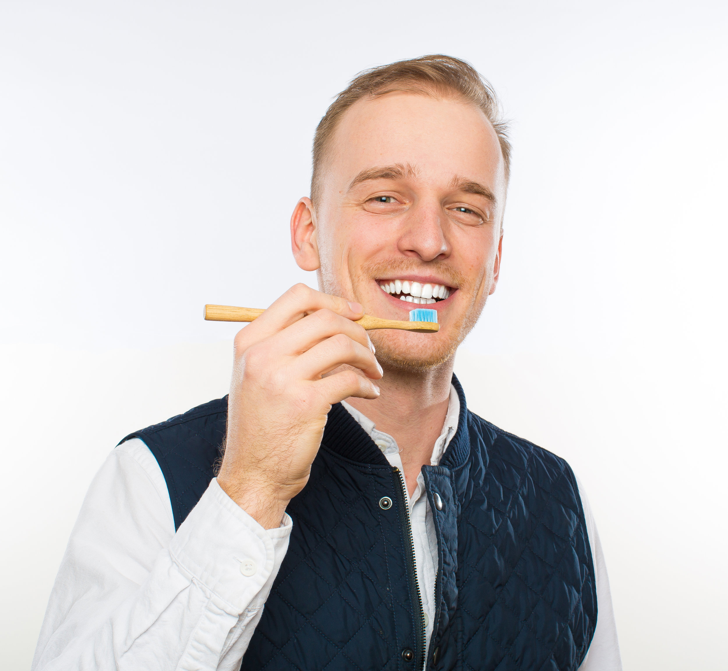 """""""I didn't realize the damage I was doing to my own mouth so when I heard about Toothtapping I was intrigued. Not only is it easy but my teeth just feel better."""" - Victor"""
