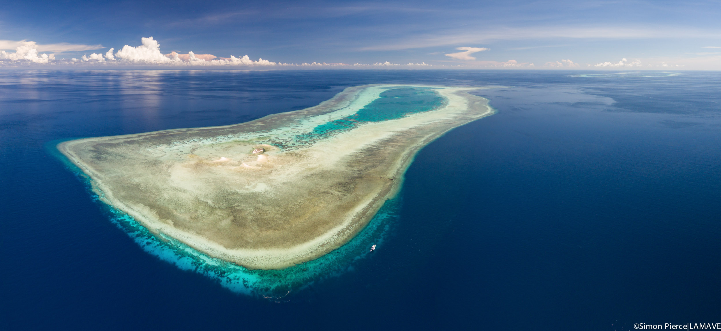 Photo 5. An aerial shot of the South Atoll in TRNP, which is located approximately 170 km east of Puerto Princesa. Credit: Simon Pierce|LAMAVE.