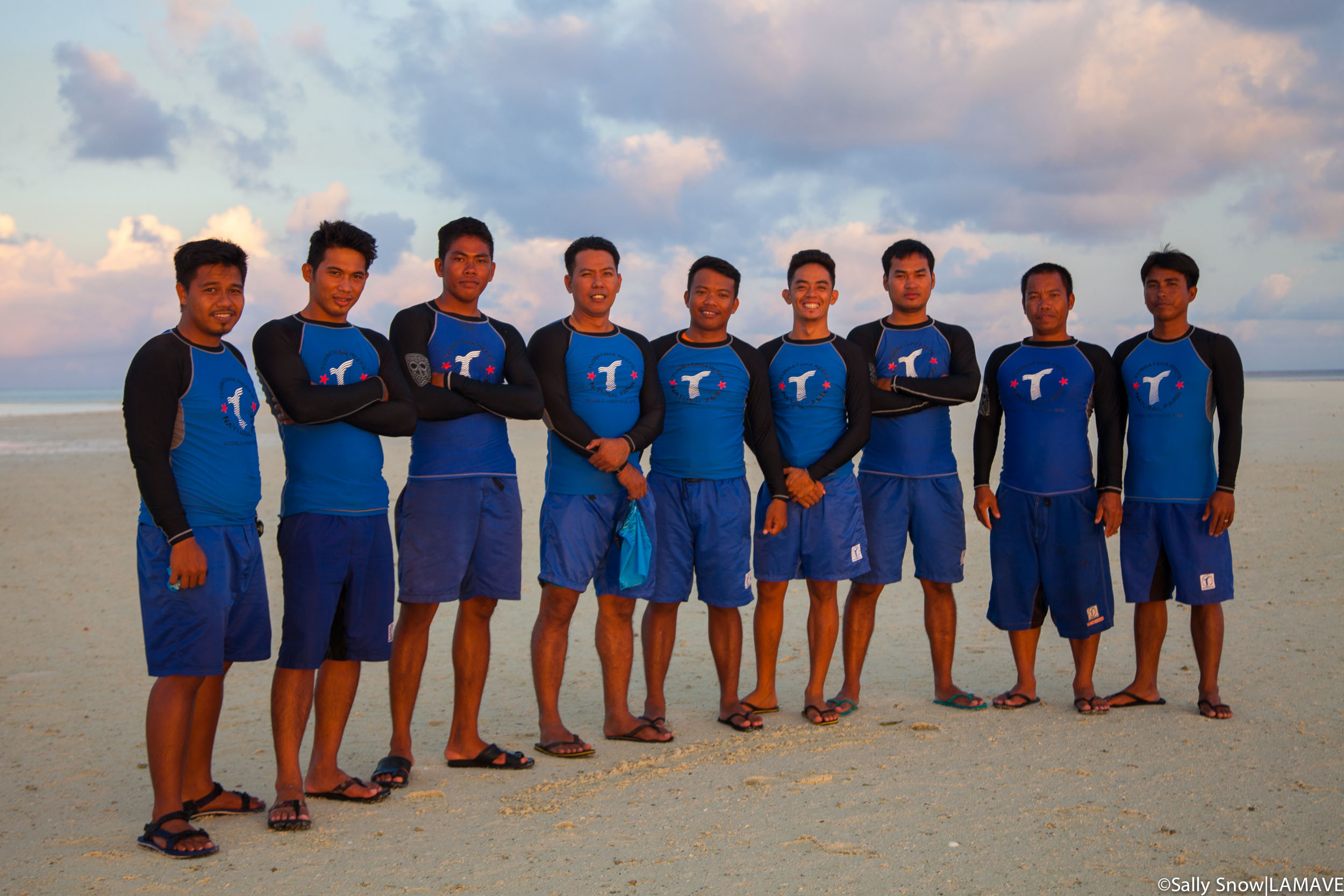 Photo 6. The rangers of Tubbataha Reefs. The rangers who protect the park are composed of members of the Tubbataha Management Office, Philippine Navy, Philippine Coastguard and members of the Local Government Unit of Cagayancillo.