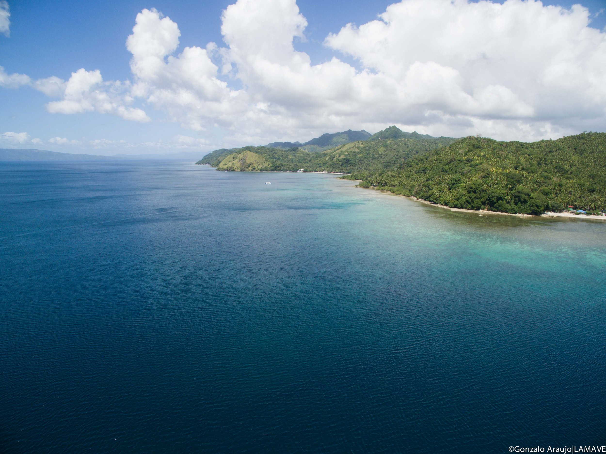 Sogod Bay, Southern Leyte from the sky.