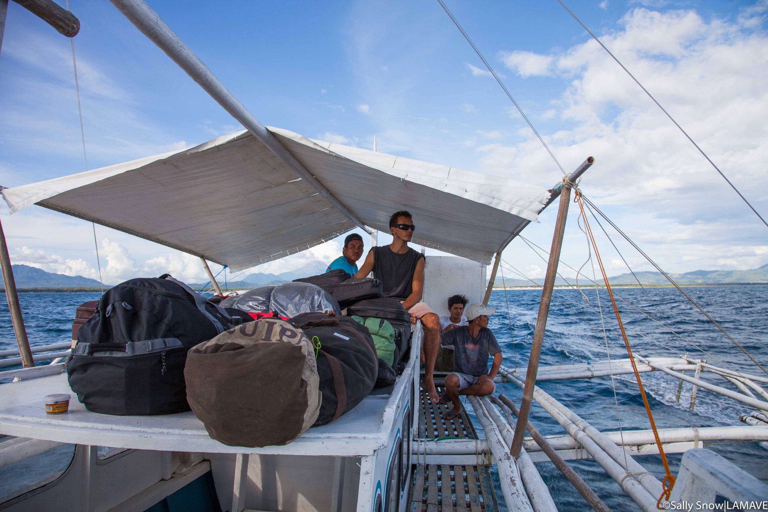 The team travel to Ticao by bangka from Bulan, Sorsogon